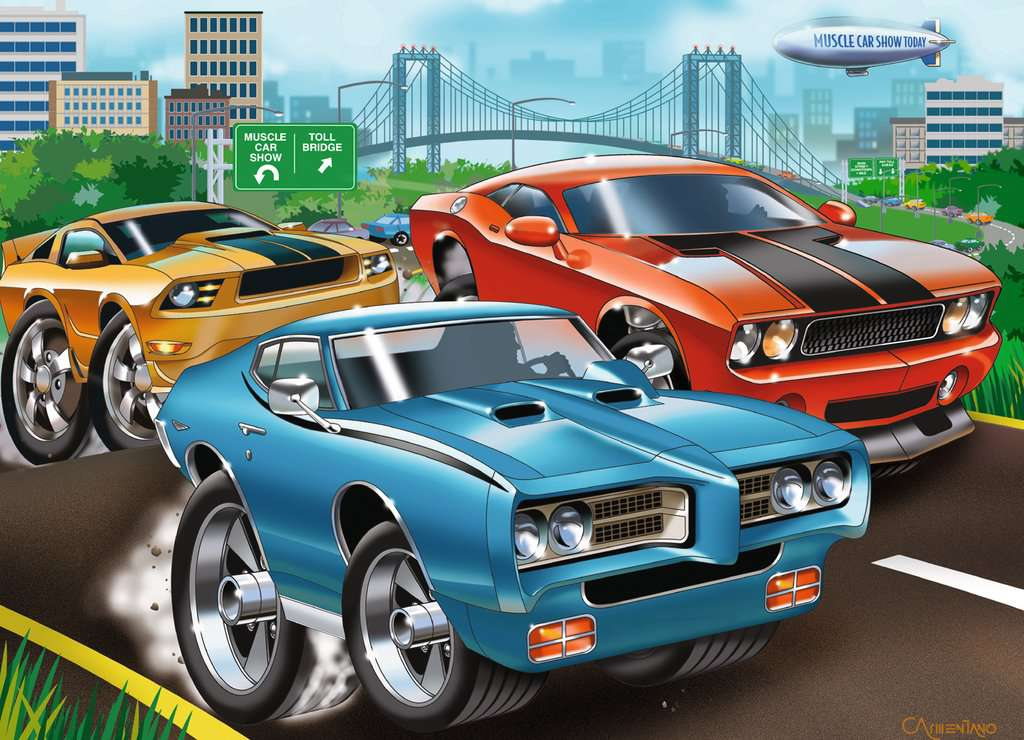 Muscle Cars Children S Puzzles Jigsaw Puzzles Products