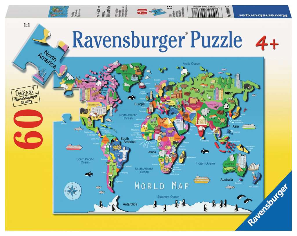 Map Of Australia Jigsaw Puzzle.World Map