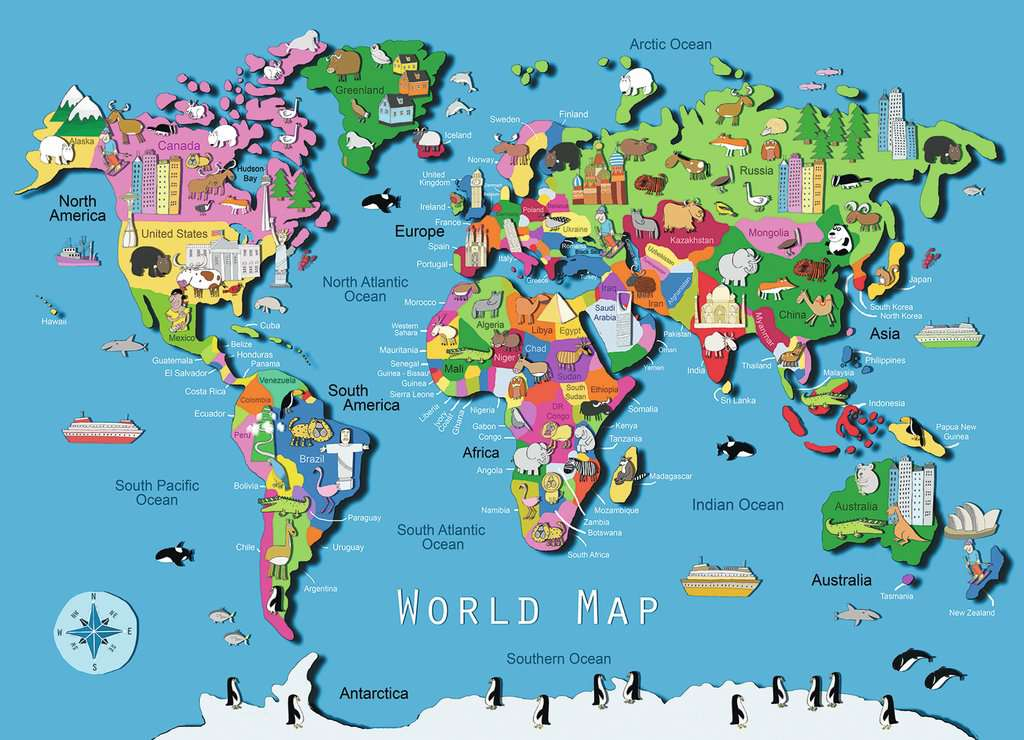 World map childrens puzzles jigsaw puzzles products caen world map jigsaw puzzleschildren s puzzles image 2 ravensburger gumiabroncs Choice Image