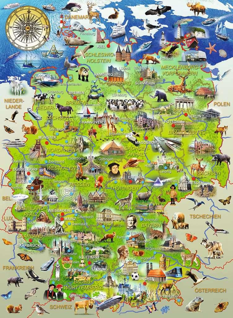 meine deutschlandkarte Meine Deutschlandkarte | Kinderpuzzle | Puzzle | Produkte | Meine