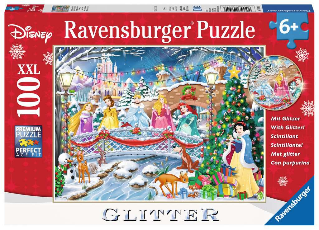 disney princess christmas xxl100 with glitter puzzleschildren s puzzles image 1