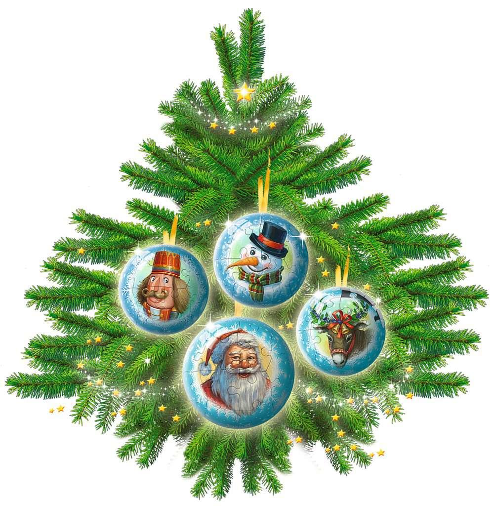 Christmas Puzzle-Ball-Set | 3D Puzzle-Ball | 3D Puzzle | Produkte ...