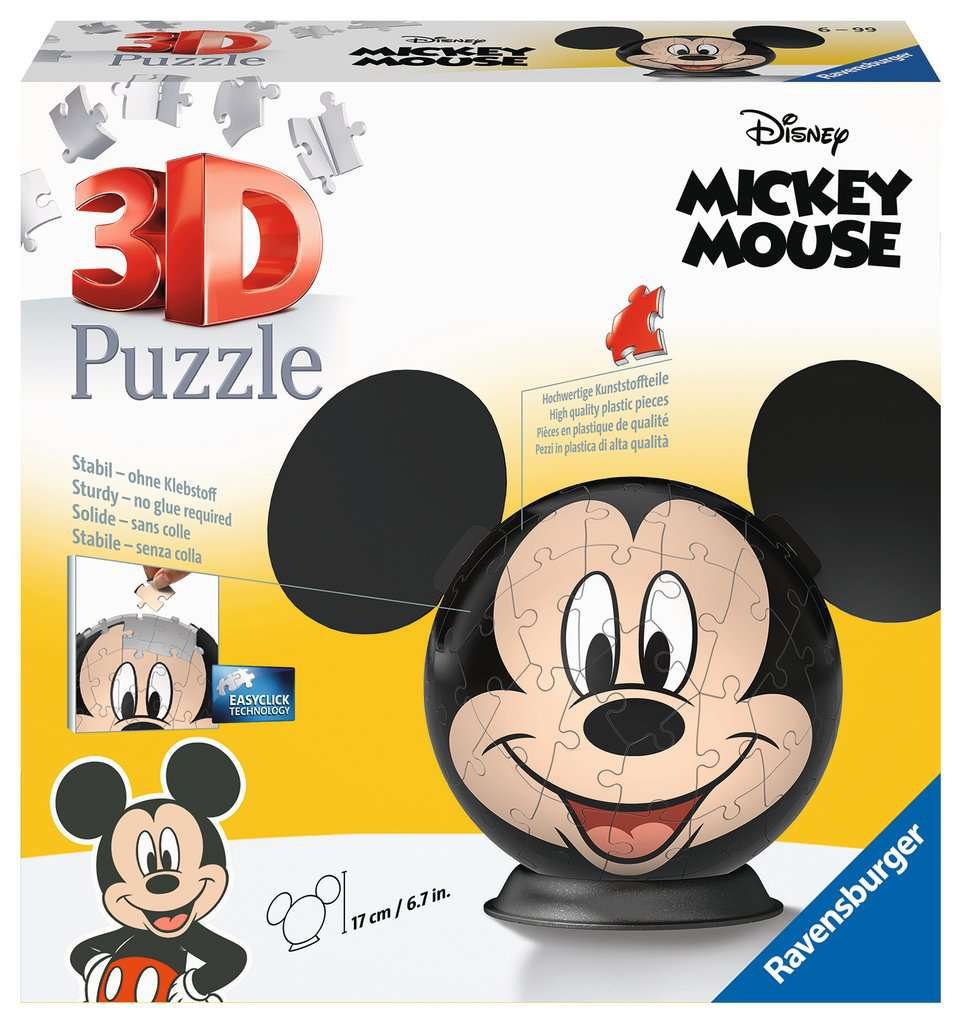 Disney Mickey Mouse mit Ohren   3D Puzzle-Ball   3D Puzzle ...