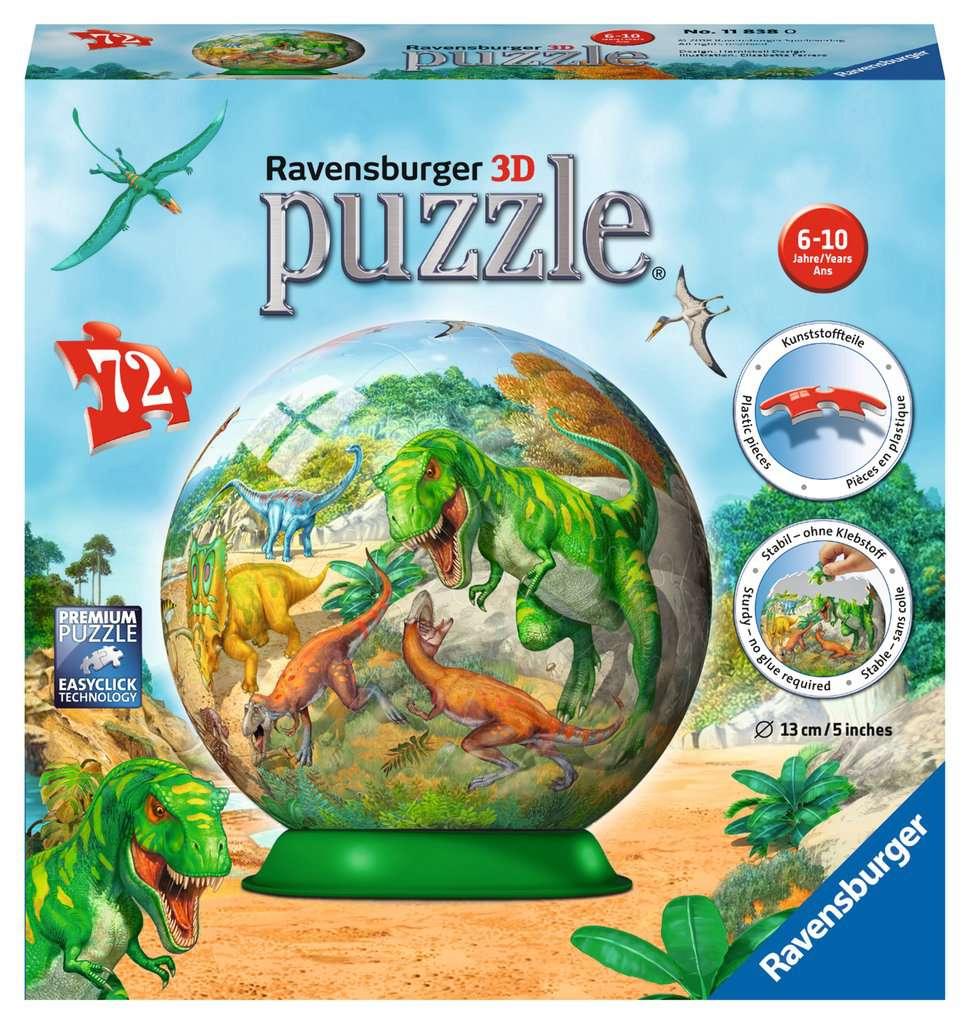 3D Bastelset Dinosaurierpark mit 10 Dinosauriern 3D Puzzles Puzzle Basteln