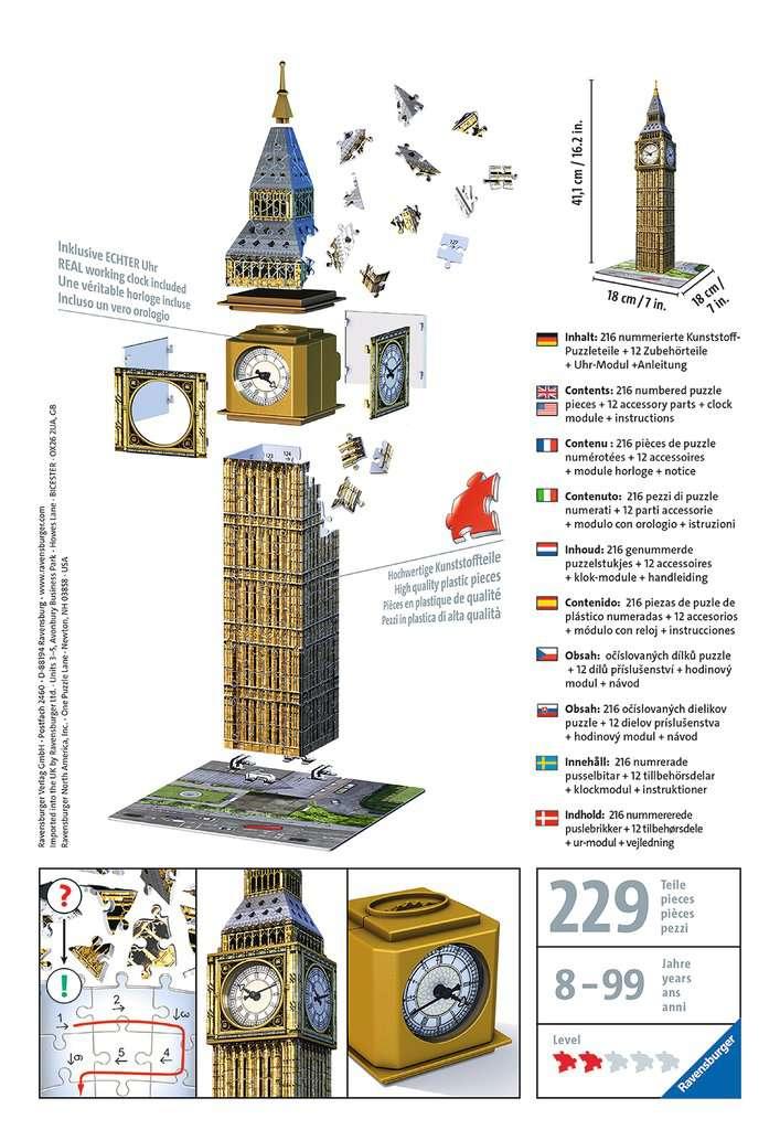 Big Ben mit Uhr | 3D Puzzle-Bauwerke | 3D Puzzle | Produkte | Big ...