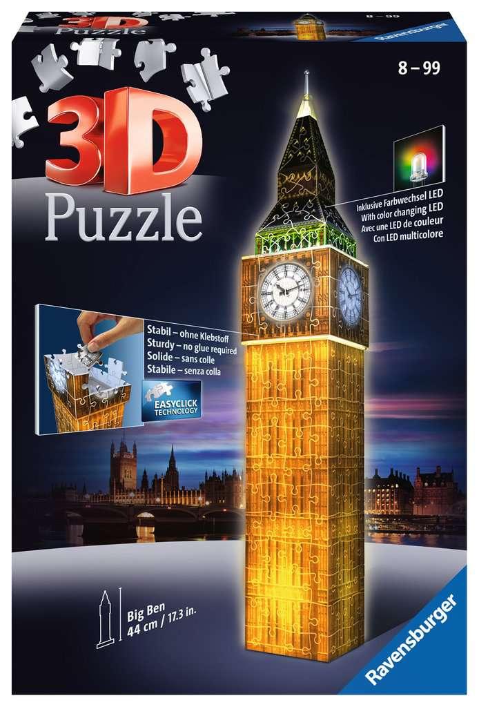 Puzzles & Geduldspiele Ravensburger 12588 3D-Puzzle Big Ben bei Nacht