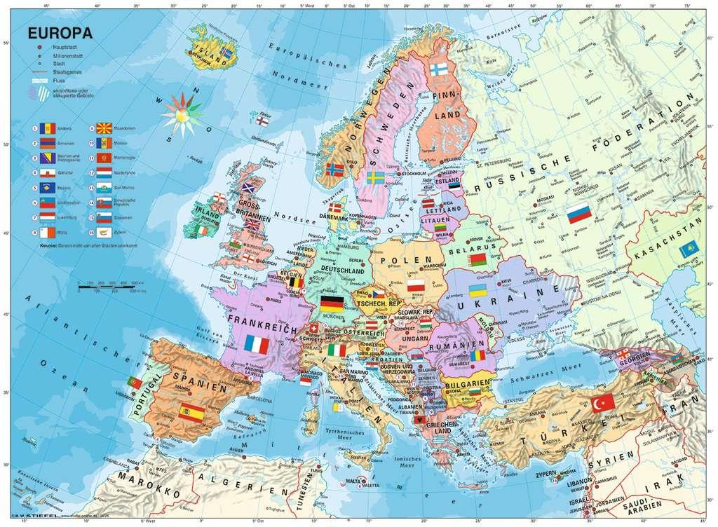 Europakarte Politisch Lander