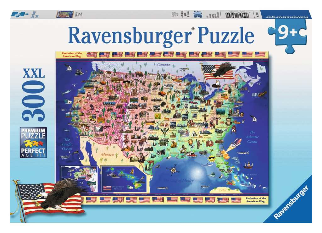 USA Map Childrens Puzzles Jigsaw Puzzles Products USA Map - Us map jigsaw puzzle