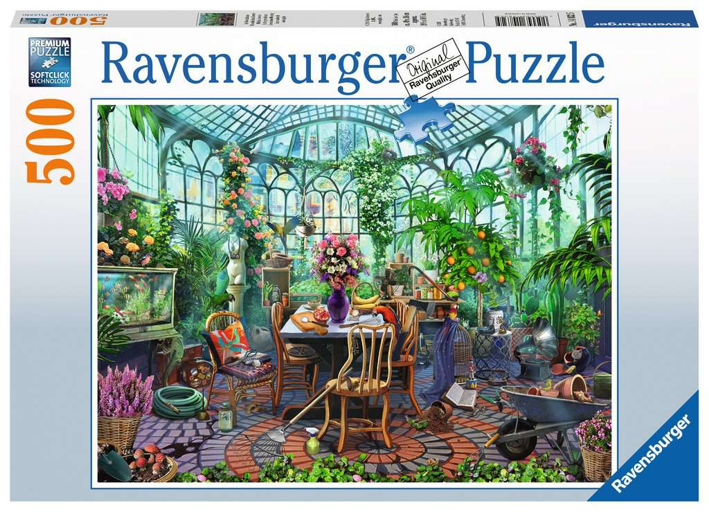 Greenhouse Mornings Adult Puzzles Jigsaw Puzzles Products Greenhouse Mornings