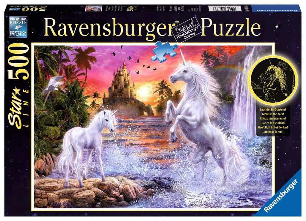 Puzzles Ravensburger Puzzle Zauberhafte Einhörner Erwachsenen Premiumpuzzle 500 Teile