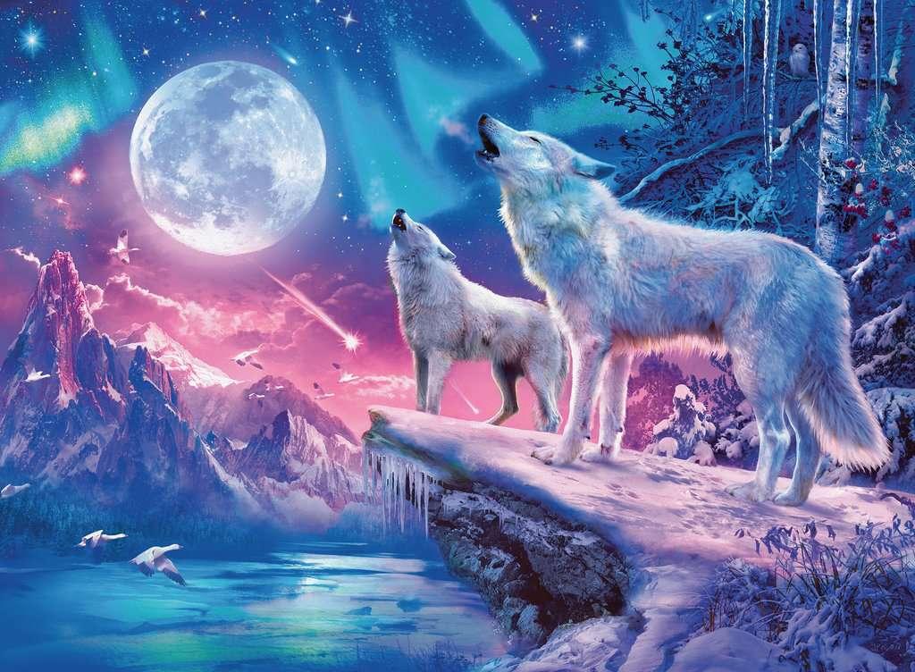 Wolf Im Nordlicht Erwachsenenpuzzle Puzzle Produkte Wolf Im