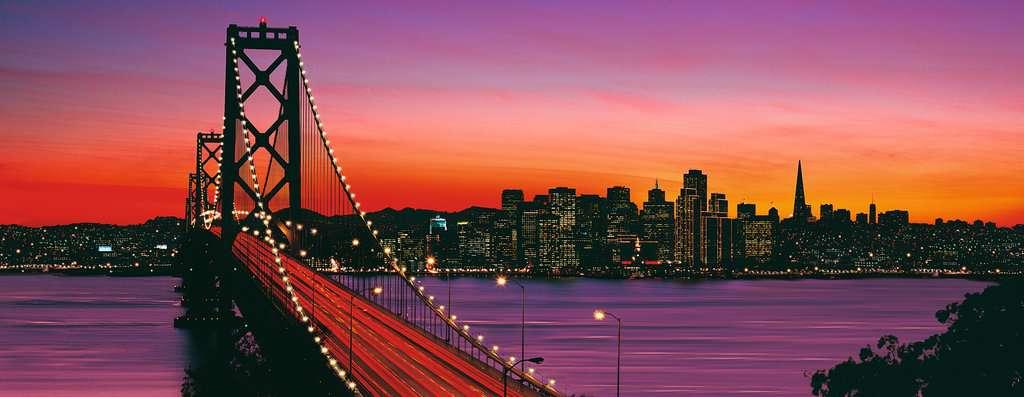 San Francisco Golden Gate Bridge De Noche Imagen 2