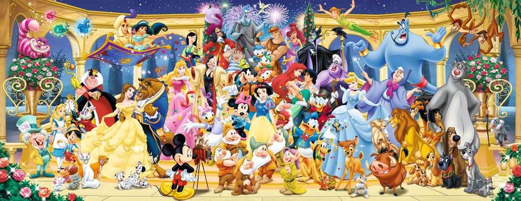 Puzzle 1000 p - Photo de groupe Disney (Panorama) | Puzzle adulte | Puzzle  | Produits | Puzzle 1000 p - Photo de groupe Disney (Panorama)
