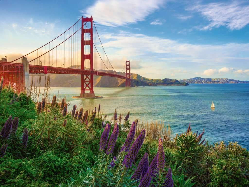 Golden Gate Sunrise | Adult Puzzles | Jigsaw Puzzles