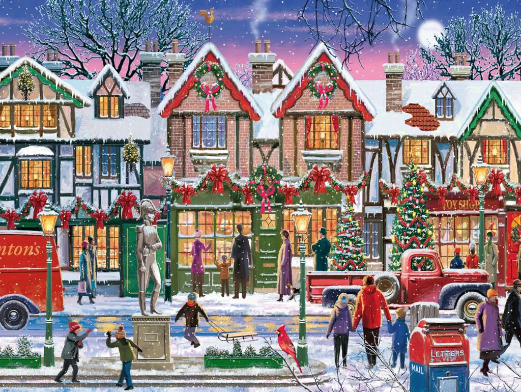 Christmas Jigsaw Puzzles.Christmas In The Square
