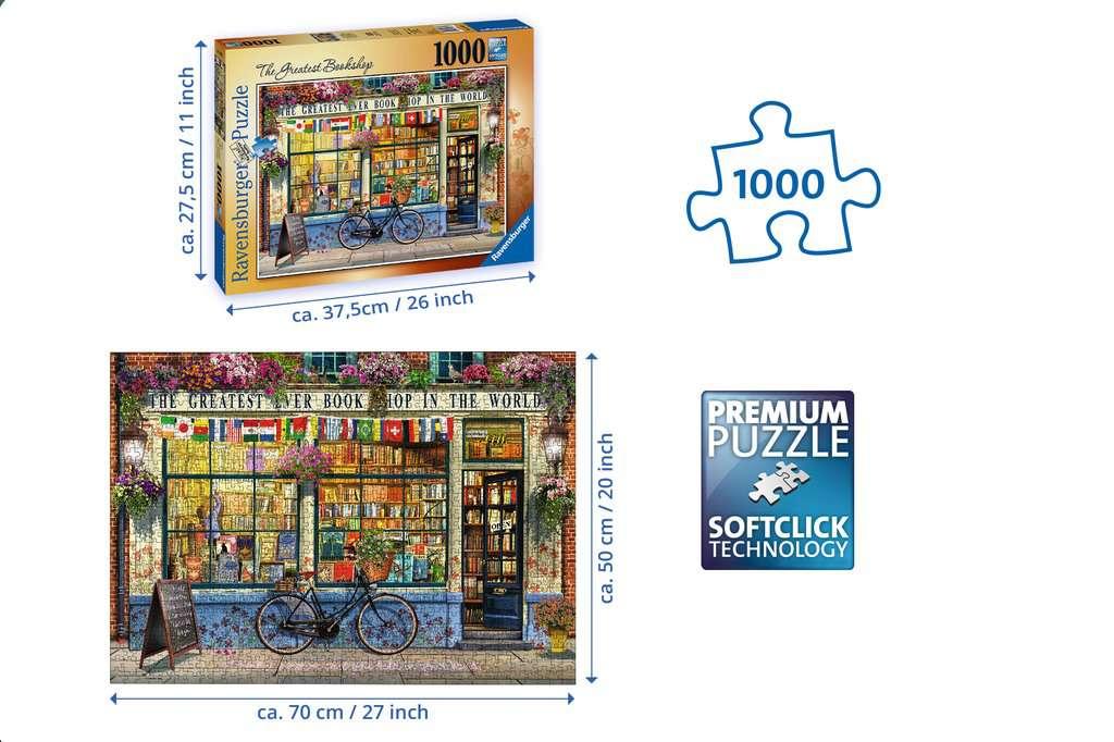 The Greatest Bookshop, 1000pc | Adult Puzzles | Puzzles