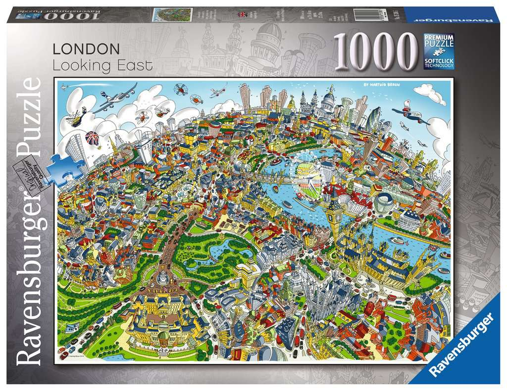 London Looking East 1000pc Adult Puzzles Puzzles