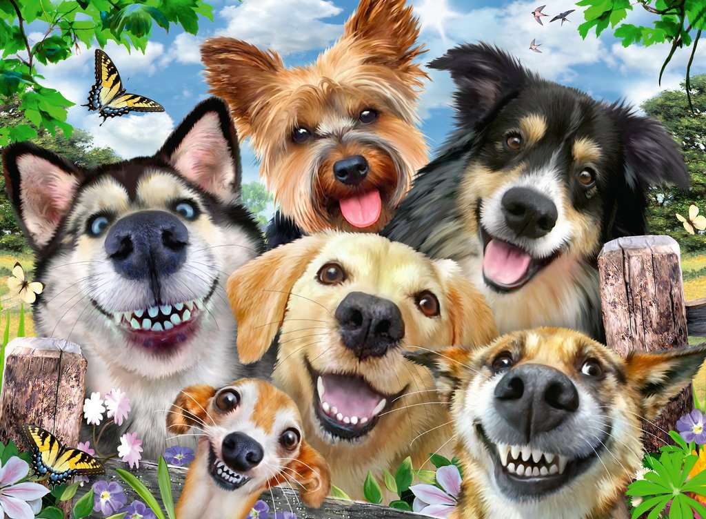 Ravensburger Jigsaw Puzzle 500 pieces DOGS DELIGHT Selfies Brand New /& Sealed