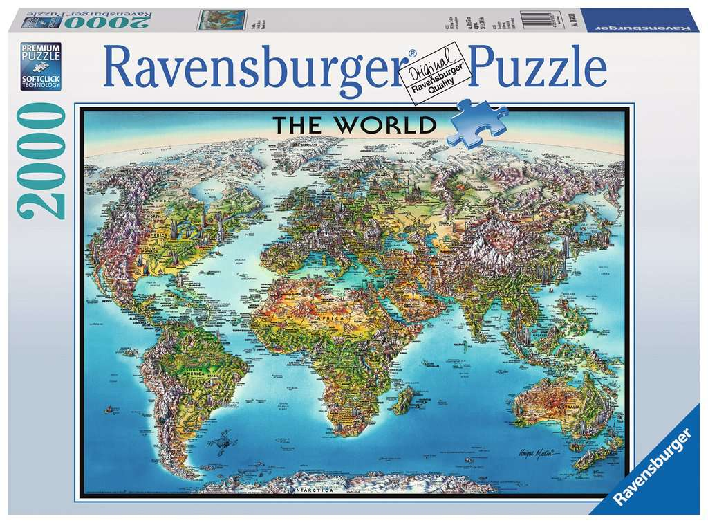 World map adult puzzles jigsaw puzzles products world map world map jigsaw puzzlesadult puzzles image 1 ravensburger gumiabroncs Choice Image