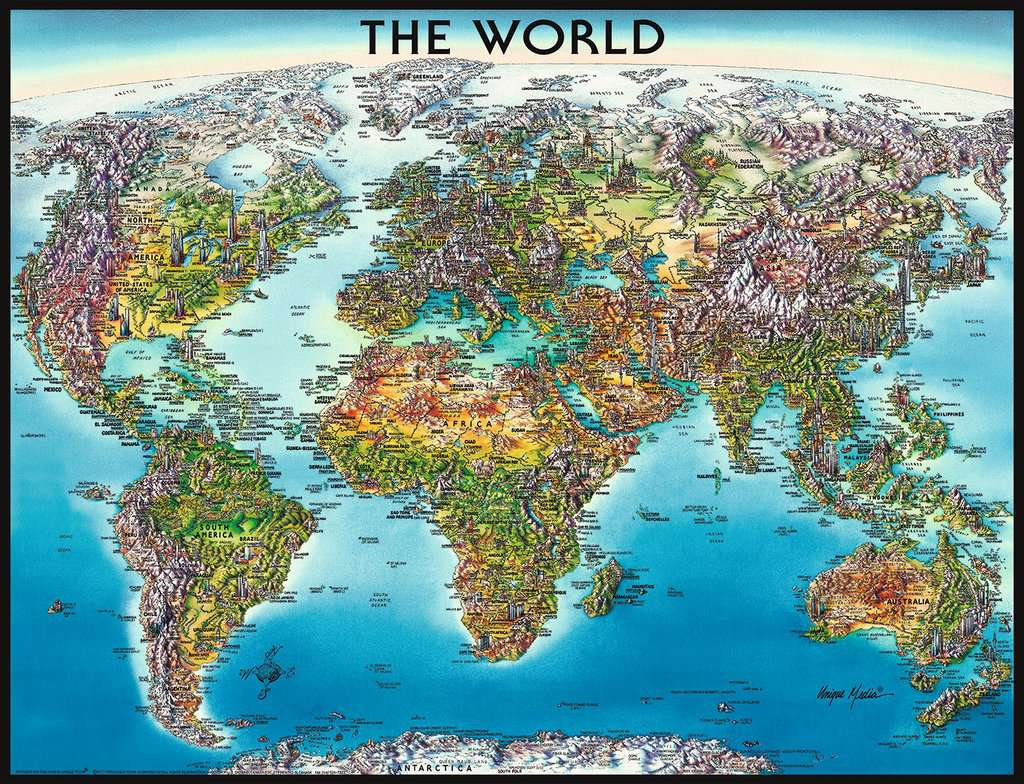 World Map | Adult Puzzles | Jigsaw Puzzles | Products | World Map