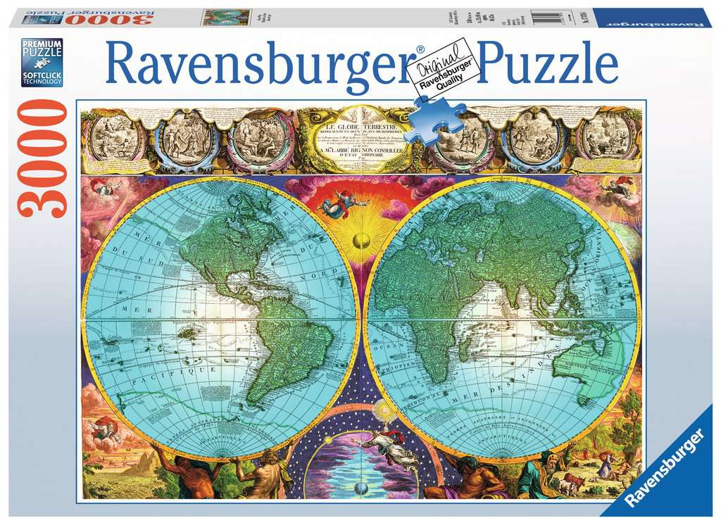 Antique map adult puzzles jigsaw puzzles products antique map antique map jigsaw puzzlesadult puzzles image 1 ravensburger gumiabroncs Choice Image