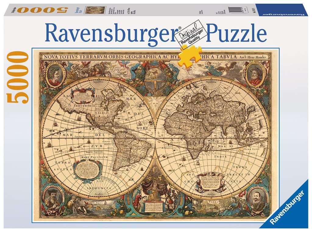 Antique world map 5000pc adult puzzles puzzles products uk antique world map 5000pc puzzlesadult puzzles image 1 ravensburger gumiabroncs Images
