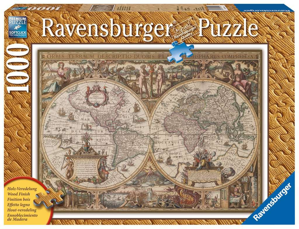 Antique World Map 1000pc Adult Puzzles Puzzles Products Uk