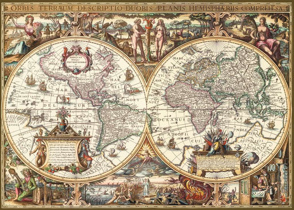 Antique World Map Puzzle.Antique World Map 1000pc Adult Puzzles Puzzles Products Uk