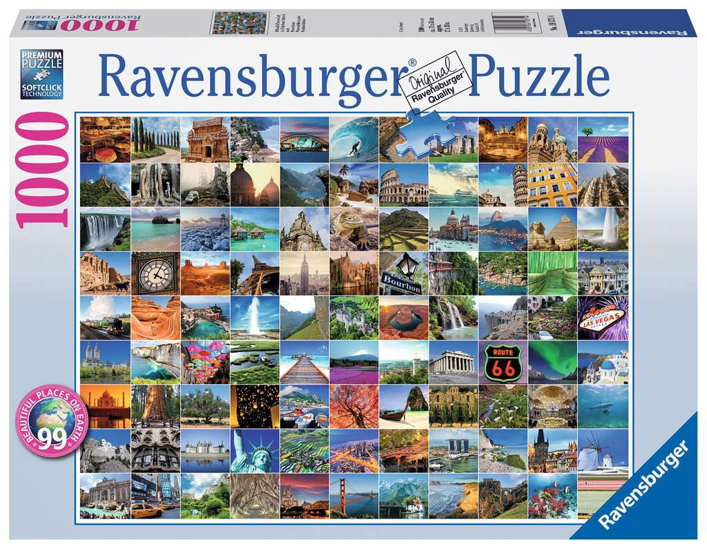 99 beautiful places on earth erwachsenenpuzzle puzzles shop 99 beautiful places on earth