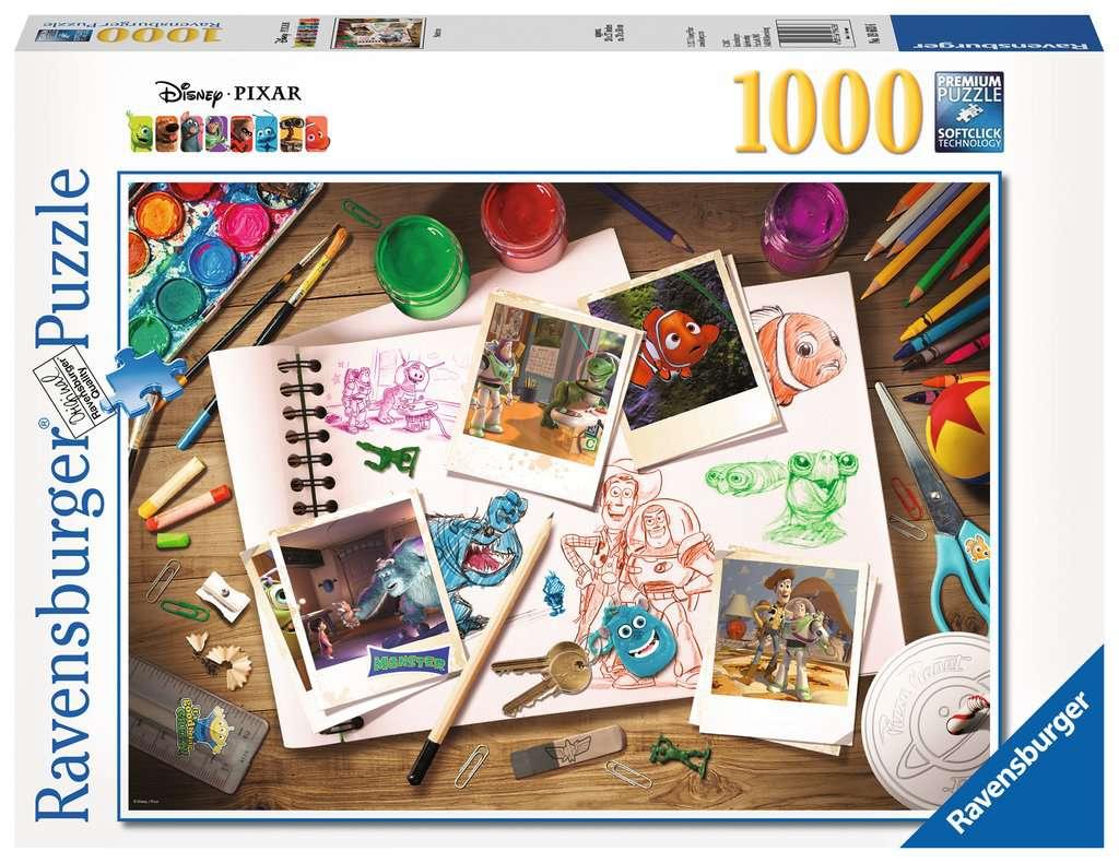 Disney Pixar Sketches Adult Puzzles Jigsaw Puzzles Products Disney Pixar Sketches