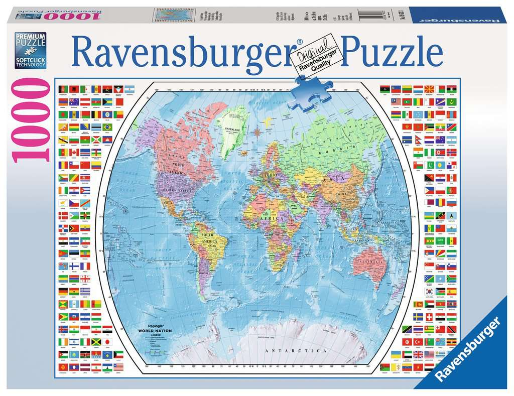 Political world map adult puzzles jigsaw puzzles products political world map jigsaw puzzlesadult puzzles image 1 ravensburger gumiabroncs Images