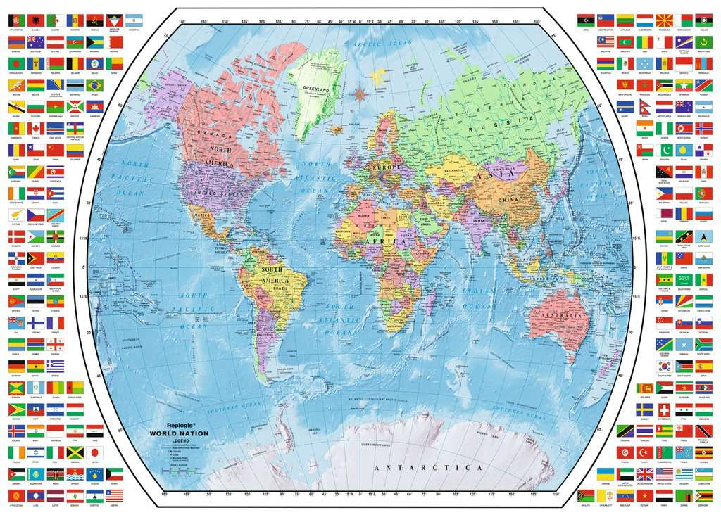 Political world map adult puzzles jigsaw puzzles products political world map jigsaw puzzlesadult puzzles image 2 ravensburger gumiabroncs Gallery