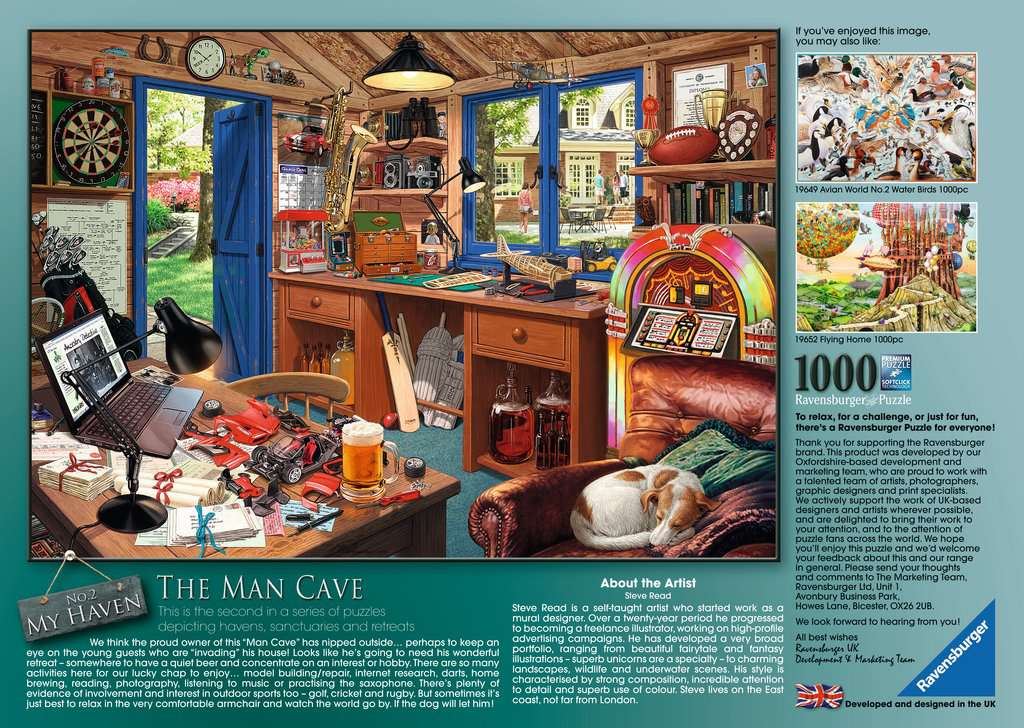 My Haven The Man Cave 1000pc Adult Puzzles Puzzles Products
