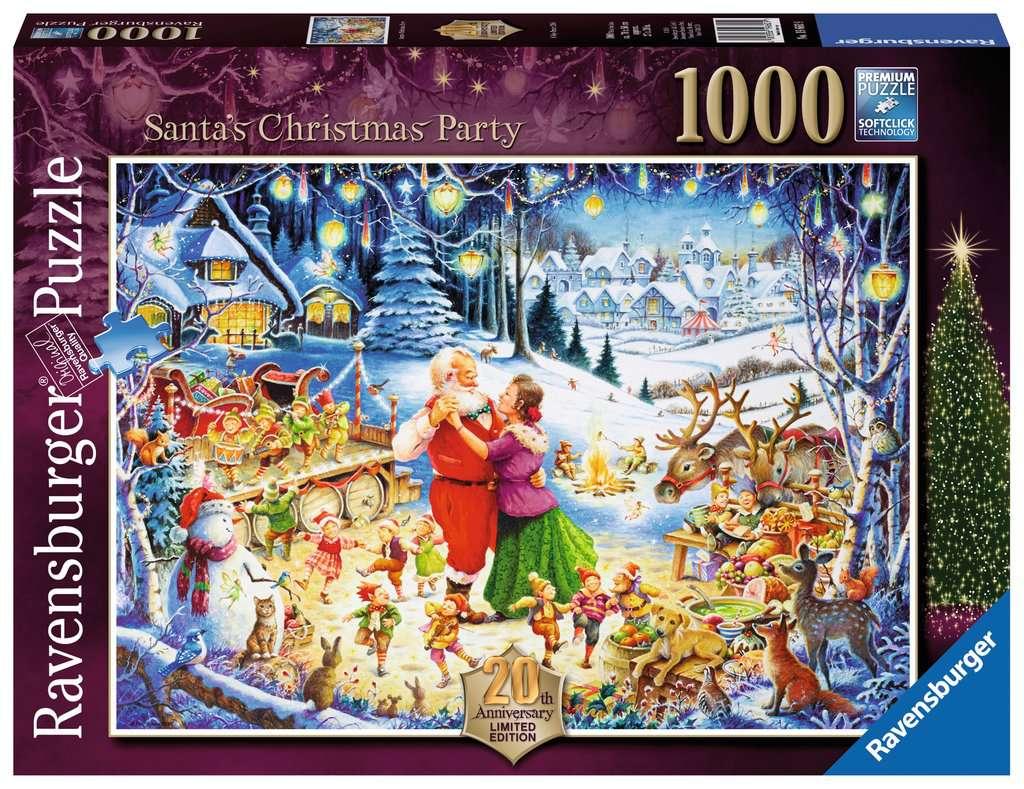 santa s christmas party limited edition 1000pc puzzlesadult puzzles image 1 - Ravensburger Christmas Puzzles