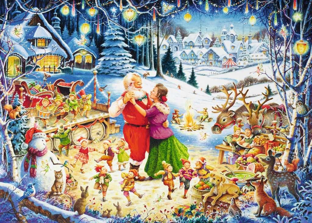 santa s christmas party limited edition 1000pc puzzlesadult puzzles image 2 - Ravensburger Christmas Puzzles