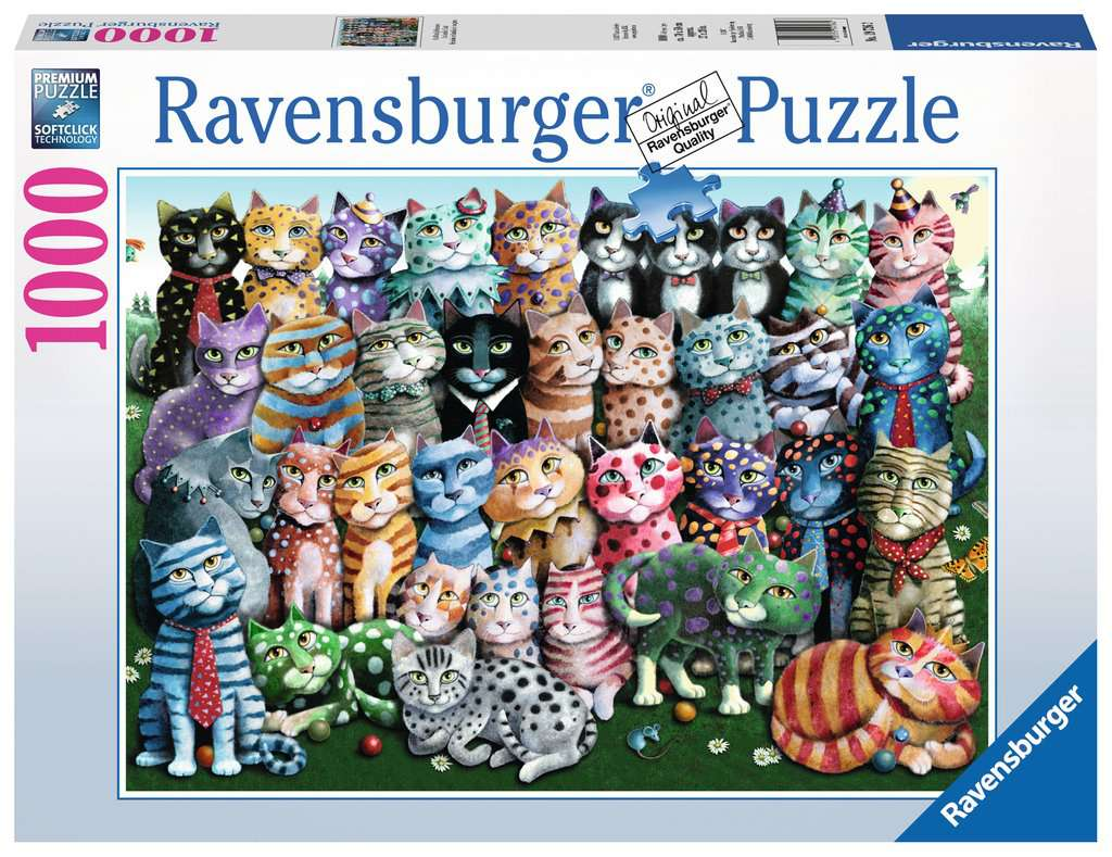 Cat Family Reuinion Adult Puzzles Jigsaw Puzzles Products Cat Family Reuinion