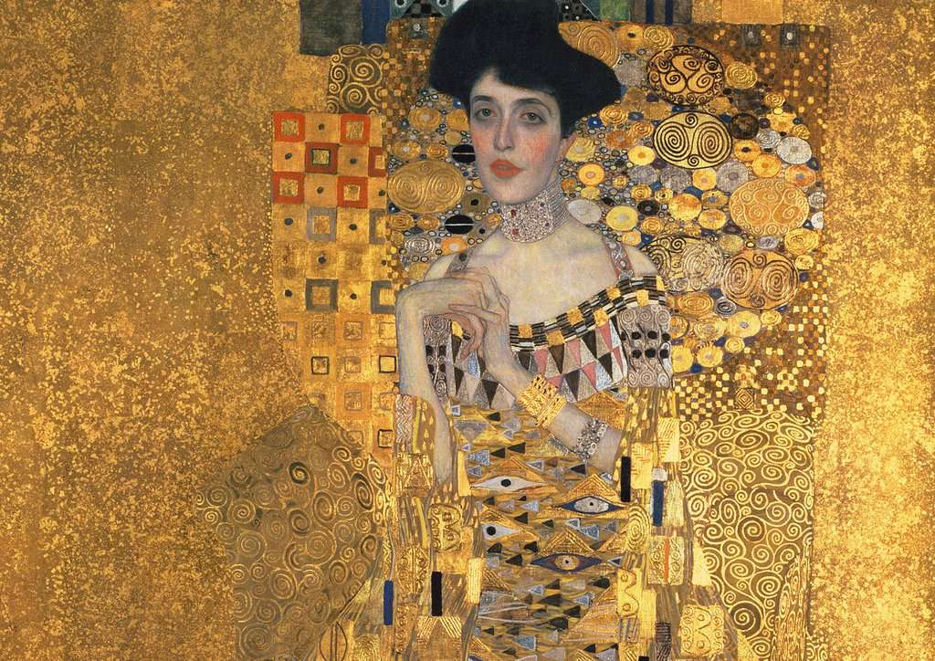 gustav klimt goldene adele bild 2 klicken zum verg ern. Black Bedroom Furniture Sets. Home Design Ideas