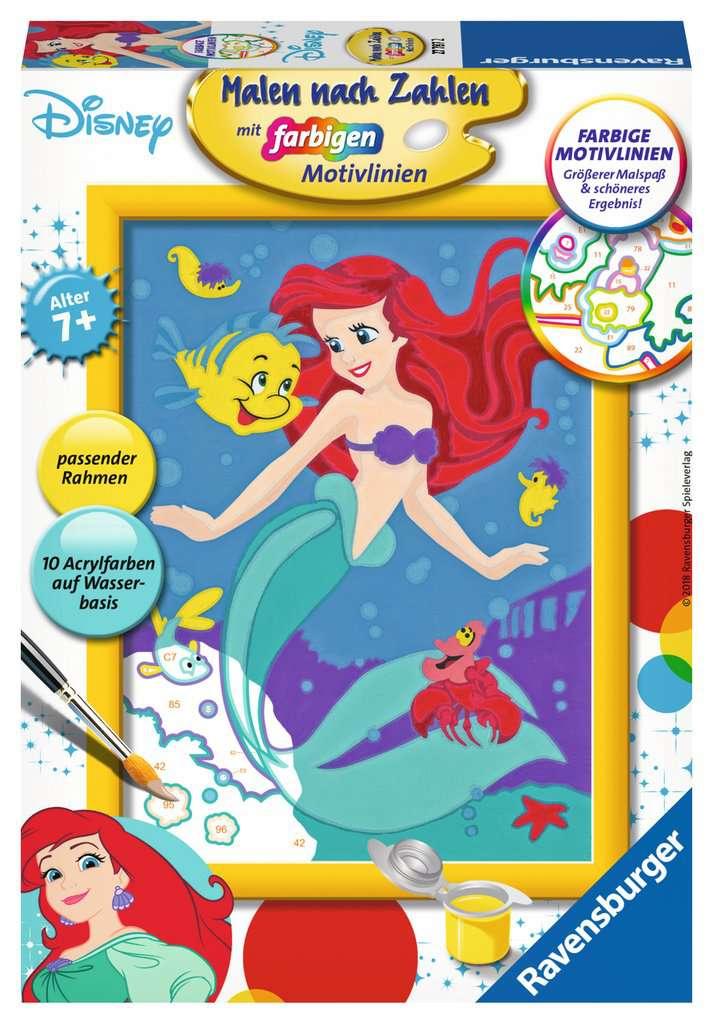 Arielle Die Meerjungfrau Malen Nach Zahlen Malen Und Basteln