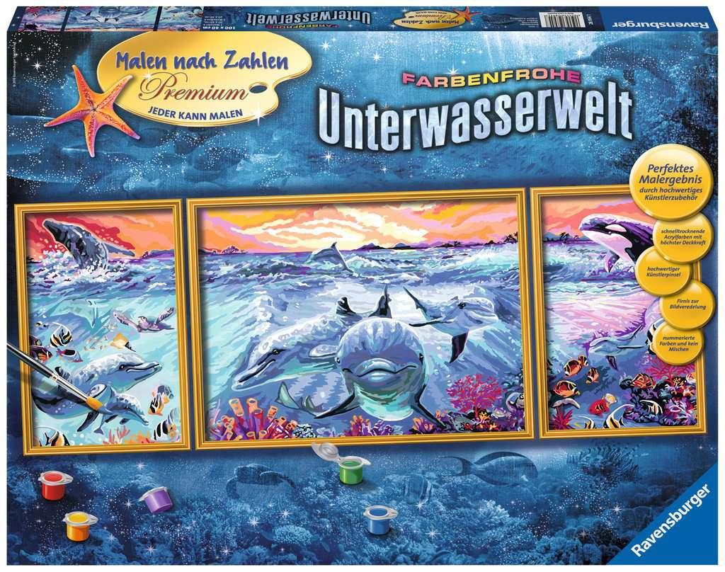 Farbenfrohe Unterwasserwelt Malen Nach Zahlen Malen Und Basteln