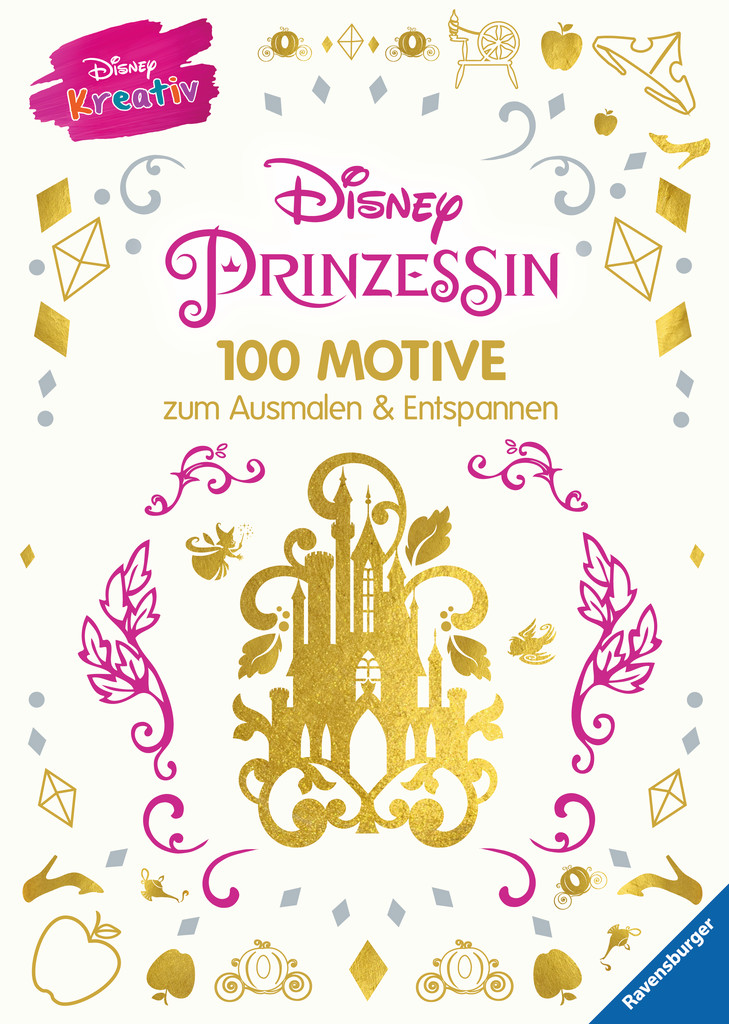 disney kreativ disney prinzessin 100 motive zum ausmalen und entspannen bild 1 klicken. Black Bedroom Furniture Sets. Home Design Ideas