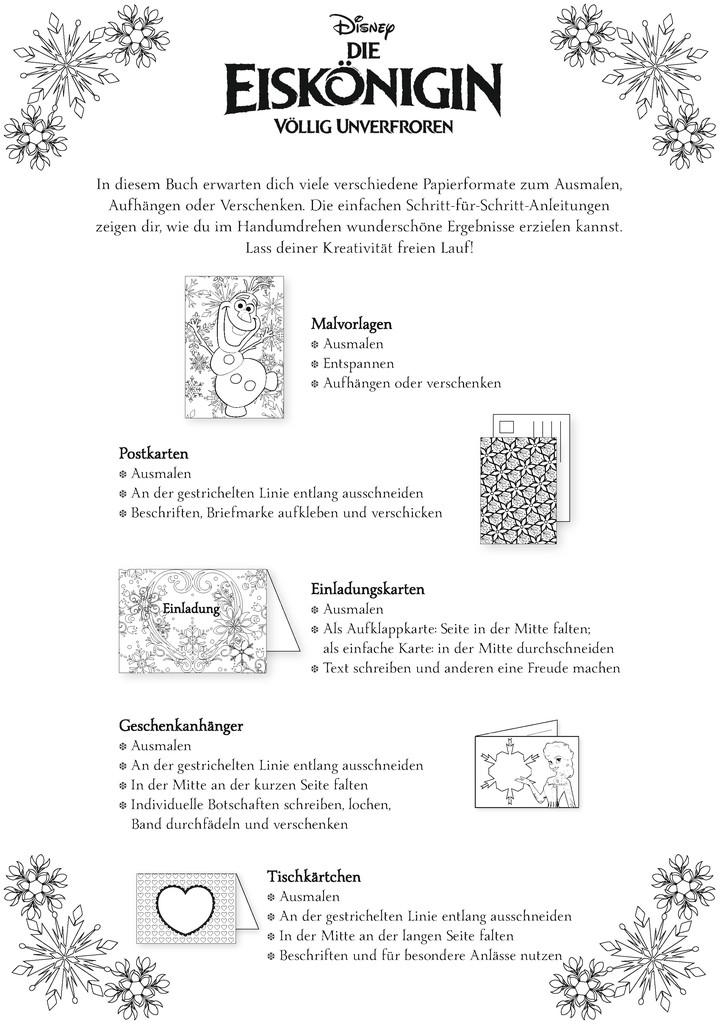 Disney kreativ: Die Eiskönigin Malen und Verschenken - Zauberhaftes ...