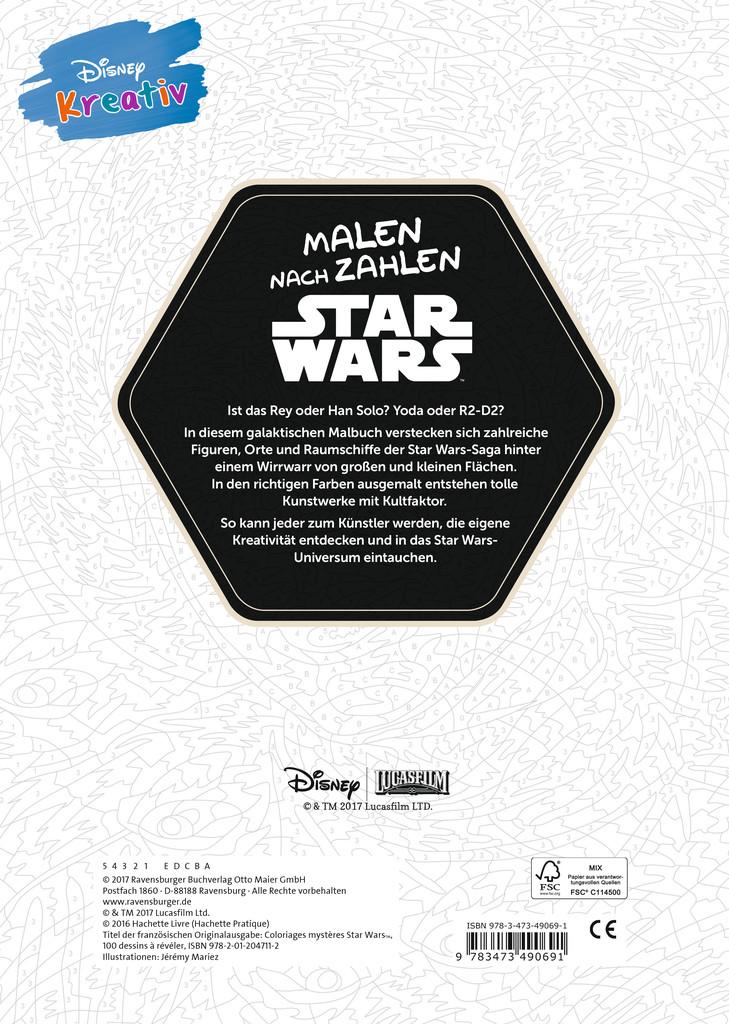 Disney kreativ: Star Wars™ Malen nach Zahlen | Mal- und Bastelbücher ...