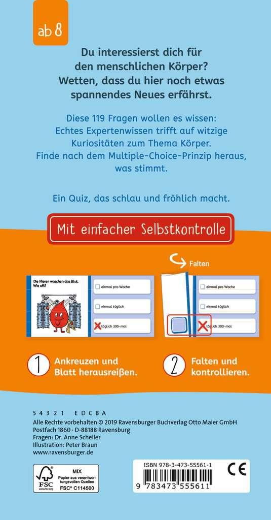800d08d1a72829 Das lustige Körper-Quiz Kinderbücher Lernbücher und Rätselbücher - Bild 3 -  Ravensburger