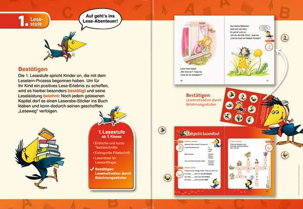 Sticker Kreuzworträtsel Zum Lesenlernen 1 Lesestufe Lernbücher