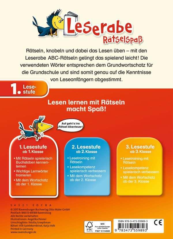 Abc Rätsel Zum Lesenlernen 1 Lesestufe Lernbücher Und