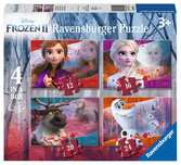 Disney Ledové království 2 4 v 1, 12/16/20/24 dílků 2D Puzzle;Dětské puzzle - Ravensburger