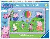 Peppa Pig Giant Floor Puzzle with Large Shaped Characters Puzzles;Children s Puzzles - Ravensburger
