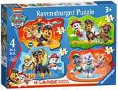 Paw Patrol Four Large Shaped Puzzles Puzzles;Children s Puzzles - Ravensburger