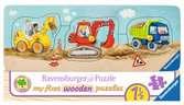 AT Baufahrzeuge           3-5p Puslespil;Puslespil for børn - Ravensburger