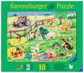 Puzzle bois 10 pièces - La ferme des jolis animaux Premier âge;Puzzles - Ravensburger